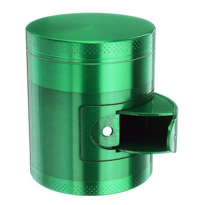 🐼 🐶 Metal Tobacco Herb Grinder 4 Layers - Side Open For Easy access - Dope Smokes Green, Green,
