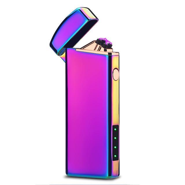 Small and Skinny Windproof Usb Rechargeable Double Arc Pulse Lighter - Dope Smokes Quality Cannabis Products