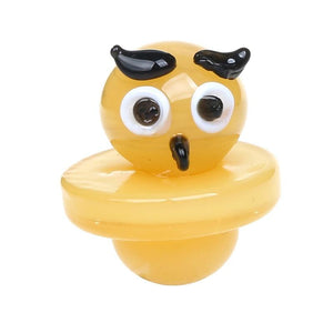 🔥 💨  Hoot Hoot Owl Glass Dab Nail Dome Carb Cap - Dope Smokes [variant_title], [option1],