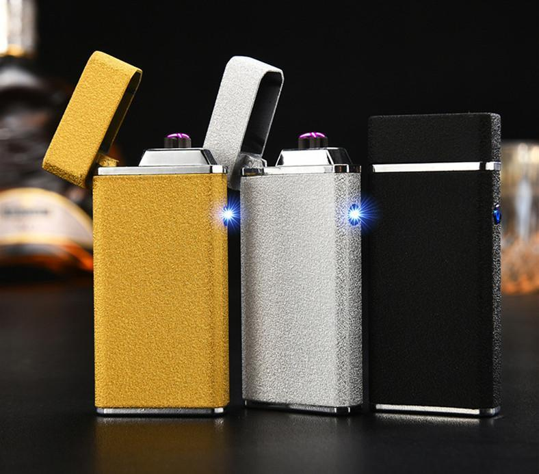 USB Electric Double Arc Rechargeable Windproof Lighter - Dope Smokes Quality Cannabis Products