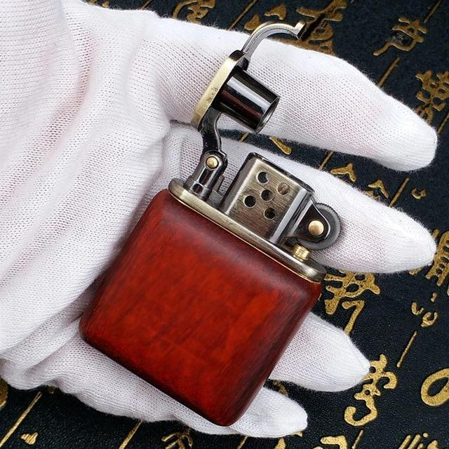 🐼 🐶 Quality Rosewood Vintage Red Hardwood Kerosene Lighter - Dope Smokes [variant_title], [option1],