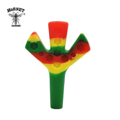 🐼 🐶 FDA Silicone Trident Joint Holder Triple Barrel Cone - Dope Smokes RASTA, RASTA,