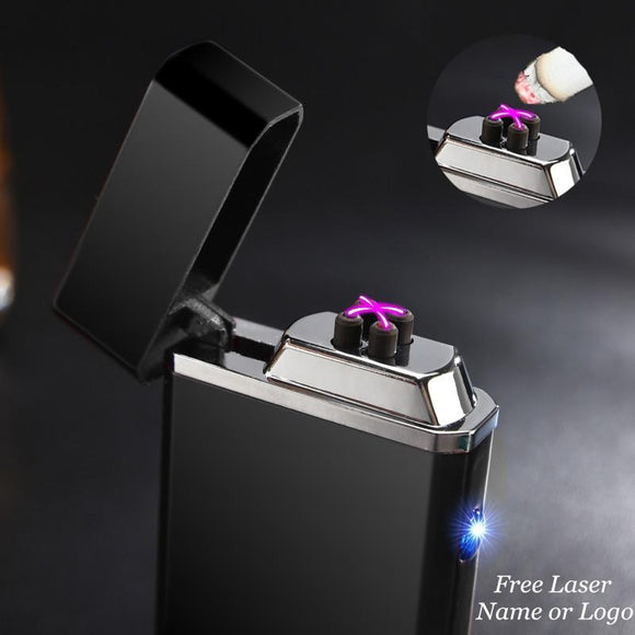🔥 💨  USB Electric Double Arc Rechargeable Windproof Lighter - Dope Smokes [variant_title], [option1],
