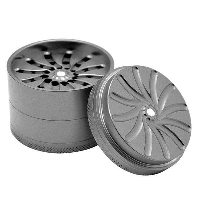 4 Layer Rotating Aluminum Alloy Herbal Tobacco Grinder