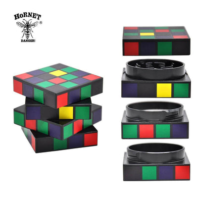 🐼 🐶 Rubik Cube Aluminum Herb Grinder - Dope Smokes [variant_title], [option1],