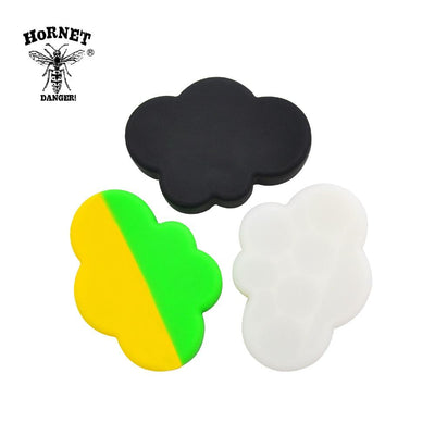 🐼 🐶 75ML 7 jars in 1 Cloud Themed Silicone Wax Oil Non Stick Dab Concentrate Jar - Dope Smokes [variant_title], [option1],
