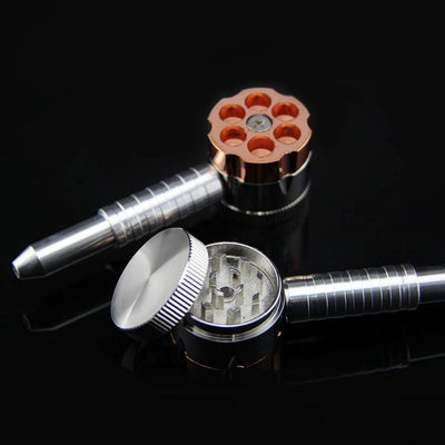 🔥 💨  Zinc Alloy Revolver grinder Six Shooter - Dope Smokes [variant_title], [option1],