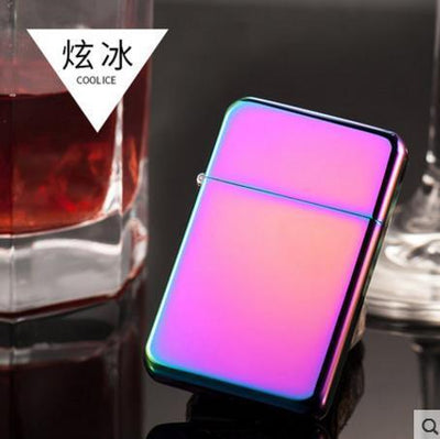 🐼 🐶 Vibrant Blue Metal Ultra-thin Kerosene Lighter - Dope Smokes COLORFUL, COLORFUL,