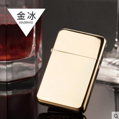 🐼 🐶 Vibrant Blue Metal Ultra-thin Kerosene Lighter - Dope Smokes GOLD, GOLD,