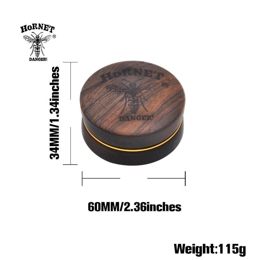 HORNET Premium Rosewood Quality Wood Herb Grinder - Dope Smokes Quality Cannabis Products