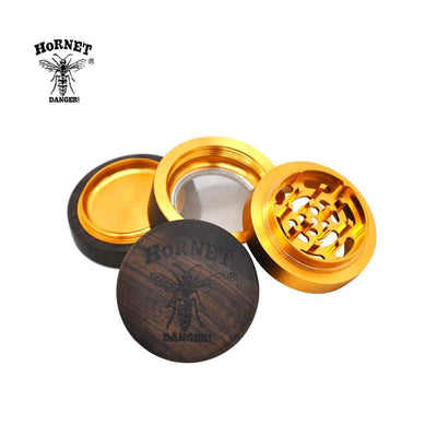 🔥 💨  Premium Handmade Wood and Metal Tobacco Herb 60 MM 4 Layers Aluminum Shark Teeth Grinder - Dope Smokes [variant_title], [option1],