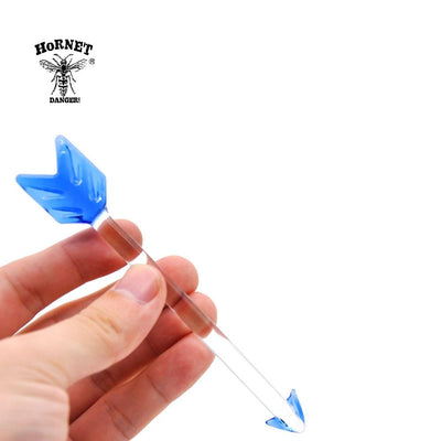 🐼 🐶 Premium Glass Dabber 5.12 Inch Wax Arrow Head Dab Tool - Dope Smokes [variant_title], [option1],