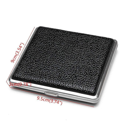 🔥 💨  1 Piece Men Black Leather Metal Joint Case - Dope Smokes [variant_title], [option1],