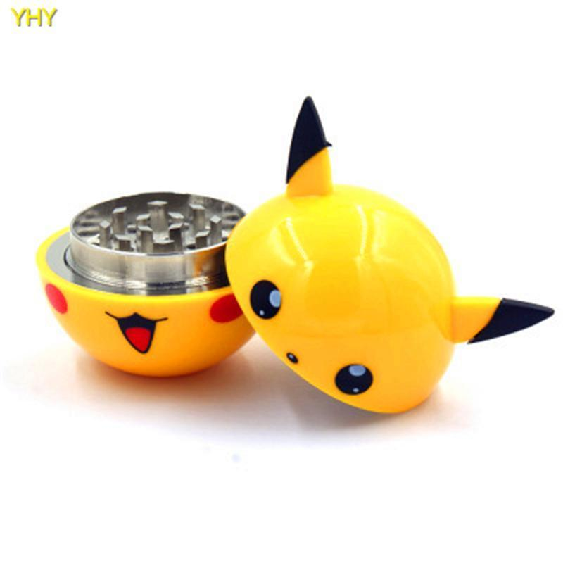 3 Layer Pikachu Herb Grinder M - Dope Smokes Quality Cannabis Products