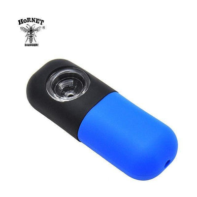 🐼 🐶 Capsule Style FDA Approved Silicone Smoking Herb Pipe - Dope Smokes China / Black-Blue, China,