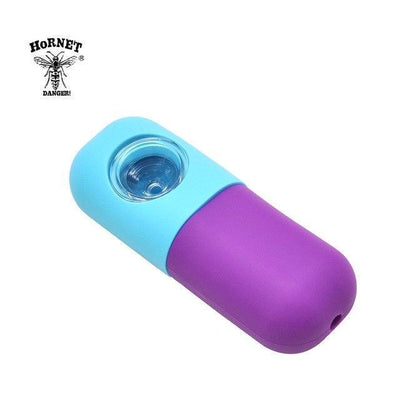 🐼 🐶 Capsule Style FDA Approved Silicone Smoking Herb Pipe - Dope Smokes China / Sky Blue-Purplle, China,