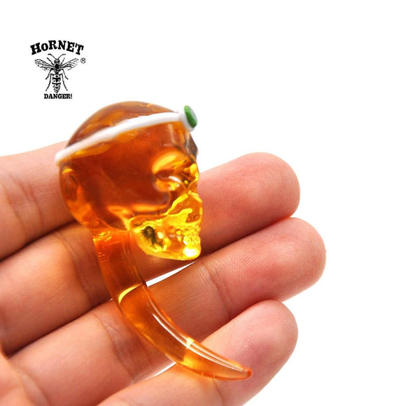 🔥 💨  Crystal Skull Bones Glass Dabbler Dab tool - Dope Smokes [variant_title], [option1],