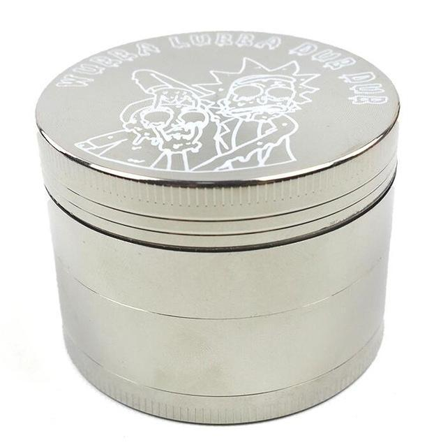 Rick and Morty Premium Zinc Alloy Herb Tobacco Grinder 2.2 Inches with Kief Catcher