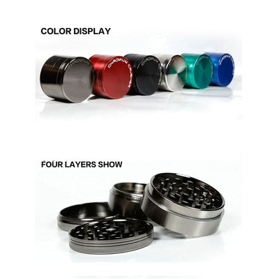 Black Smokers dry herb Accessories Chromium Crusher Kief Catcher Bud Grinder