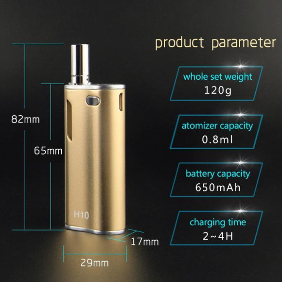 🔥 💨  Hibron H10 Vape Kit E Cigarette 650mAh Built-in Battery 0.8ml Vape - Dope Smokes [variant_title], [option1],