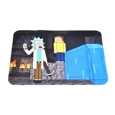 🐼 🐶 Rick and Morty Nonstick Foldable Silicone Wax Non Stick Oil Mat - Dope Smokes China / Rick and Morty Minecraft . Blue, China,