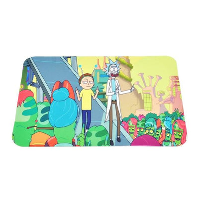 🐼 🐶 Rick and Morty Nonstick Foldable Silicone Wax Non Stick Oil Mat - Dope Smokes China / Rick and Morty Aliens Yellow, China,