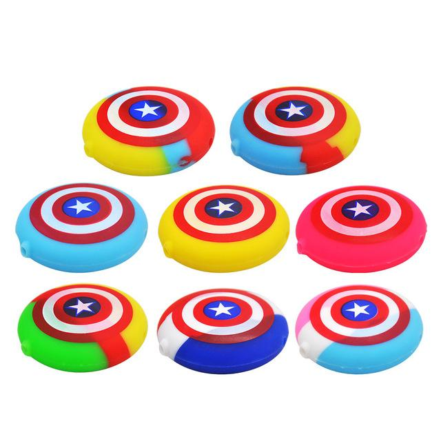 Captain America Shield FDA Silicone Smoking Pipe Stars and Stripes Hand Pipes