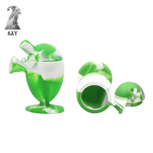 🔥 💨  Creative Design Mini Unbreakable Silicone Bubbler - Dope Smokes [variant_title], [option1],