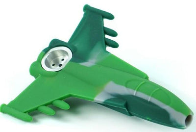 Air Plane Fighter Jet Silicone Tobacco Unbreakable Pipe