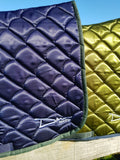 DM Olive Satin Saddle Pad