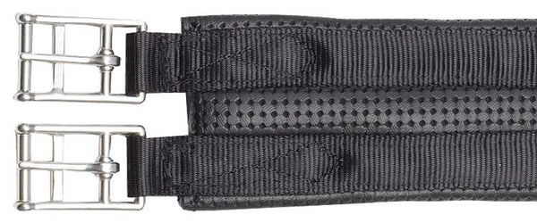 Plain 2 Buckle Girth - Black