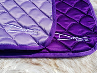 DM Lilac Satin Saddle Pad