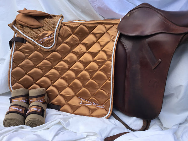 Brushed Copper saddle pad