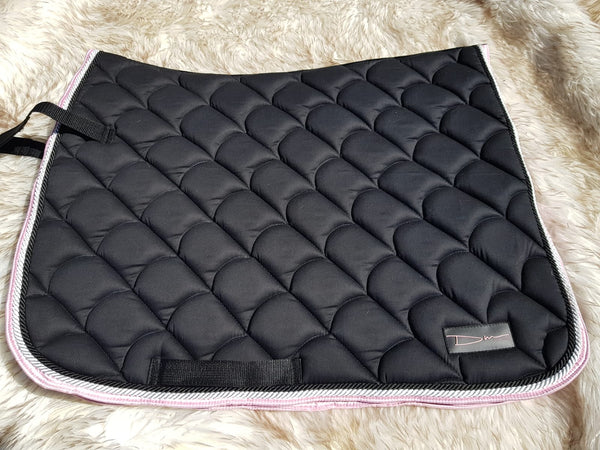DM Cotton Drill Saddle Cloth - Black-