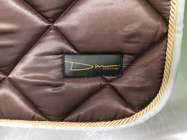 DM Satin Saddle Pad -Chocolate-