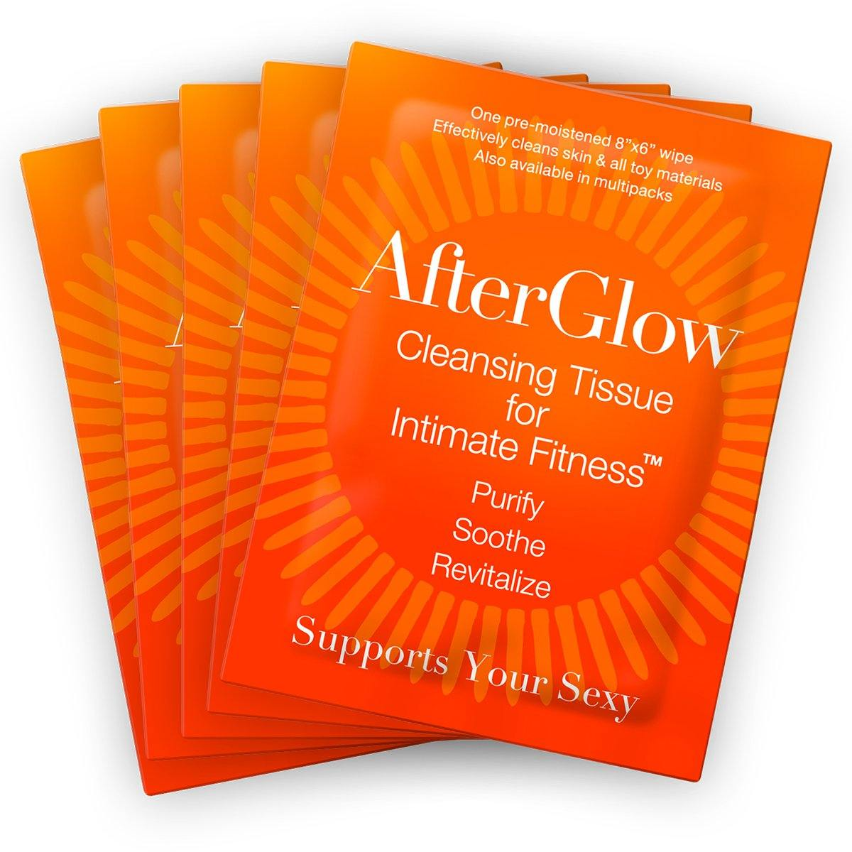 Afterglow Cleansing Tissues for Intimate Fitness - Singles 50/bag [827]