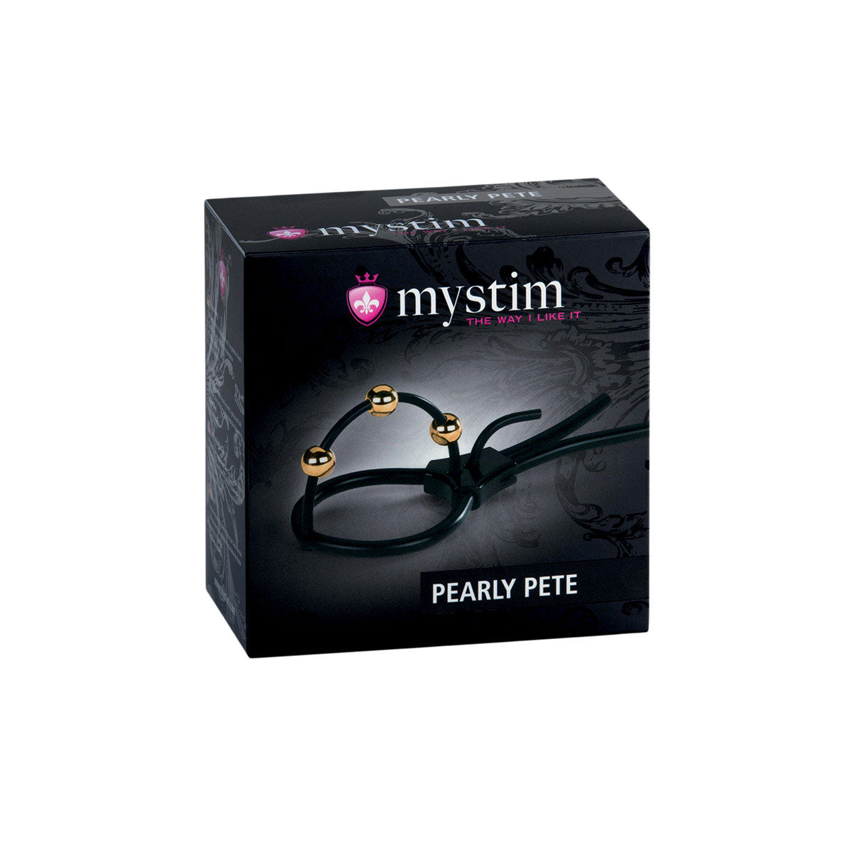 Mystim Pearly Pete - Corona Strap with Golden Balls [A00422]