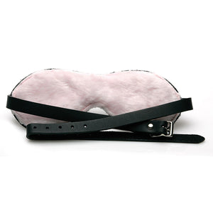 Sex Kitten Leather Buckle Blindfold [A00515]
