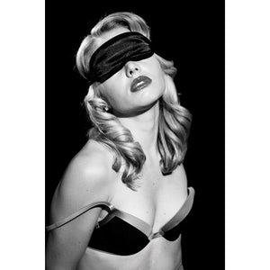 S&M Satin Blindfold - Black [A01301]