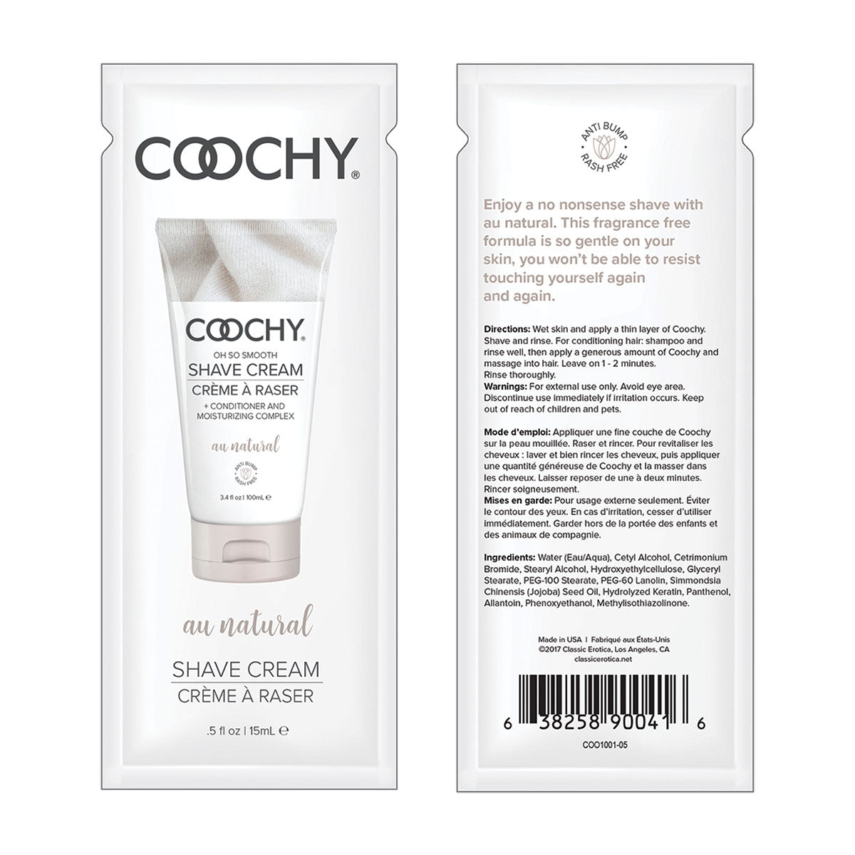 Coochy Shave Cream 15ml. 24pc. Display - Au Natural [A01805]