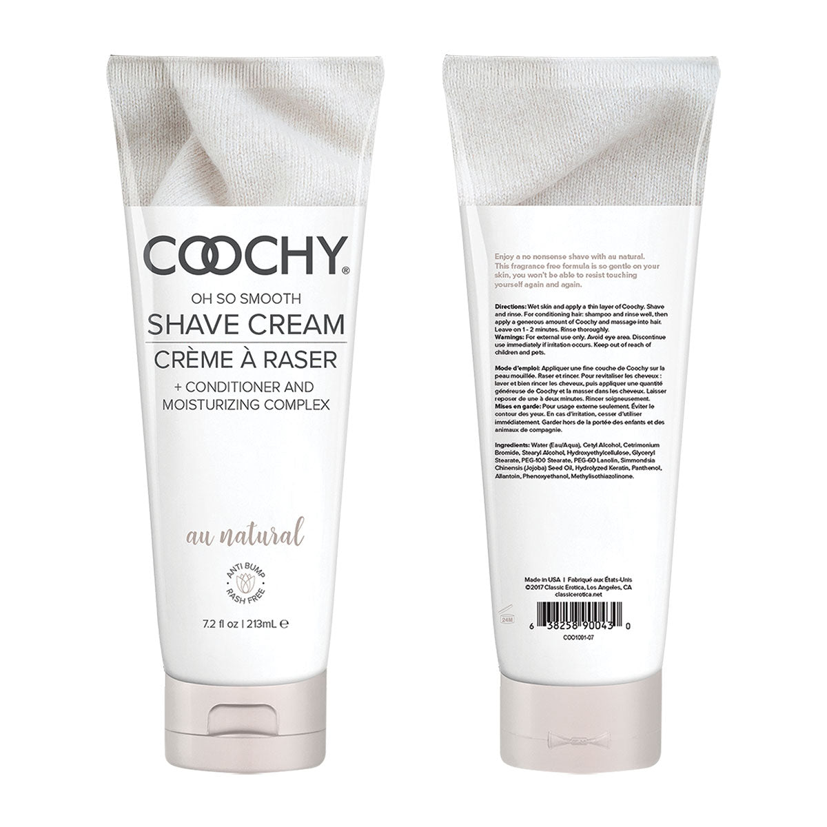 Coochy Shave Cream 7.2oz - Au Natural [A01807]