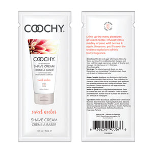 Coochy Shave Cream 15ml. 24pc. Display - Sweet Nectar [A01825]