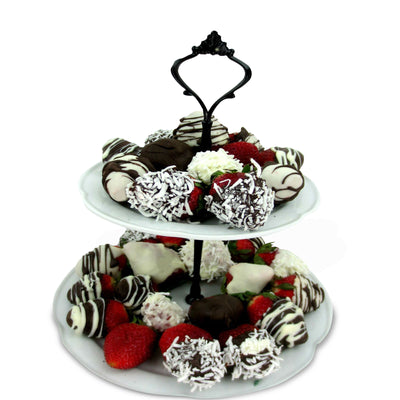Two-Tiered Chocolate Dipped Strawberries