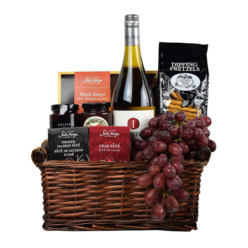 Champagne Gifts | Appetizing Appetizers Champagne Gift Basket - Good 4 You Gift Baskets | Canada