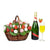 The Blooming Chocolate Dipped Strawberry Gift Basket With Champagne