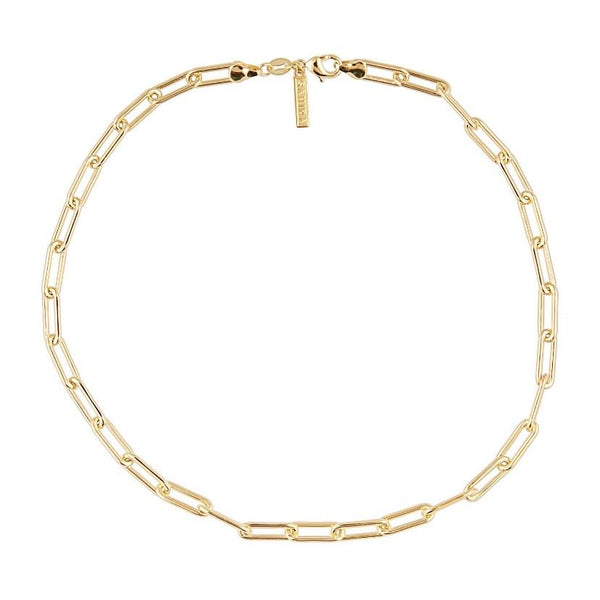 Carrie Gold Link Necklace 18 In
