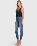 Principle High Rise Skinny Jeans, Gem - Blue Lagoon