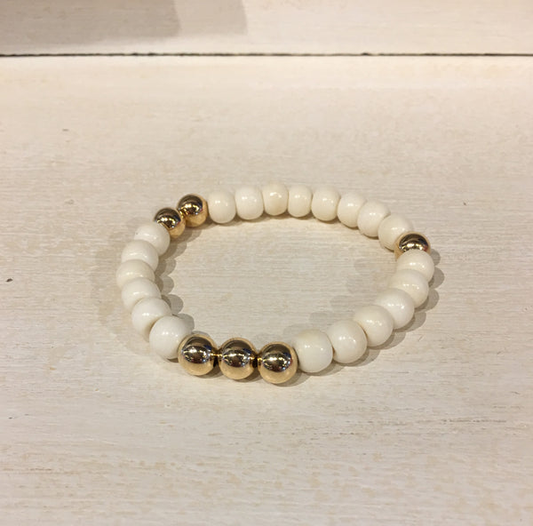 8mm Horn & Gold Filled Bracelet