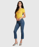 Principle Mid Rise Cropped Jeans, Optimist - Paradise  Found Medium Denim