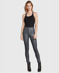 Principle High Rise Skinny Jean -Gem- Gun Metal Coated